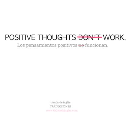 traducción de pensamientos positivos