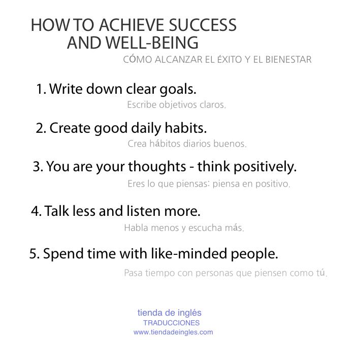 Cómo alcanzar el éxito y el bienestar